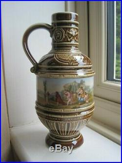 Antique Berlin Porcelain Bellarmine Bartman Jug Mythical Scene