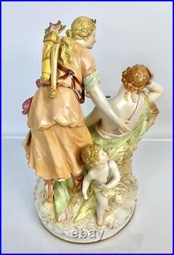 Antique C19th KPM Porcelain Neoclassical Figural Group/Figurine