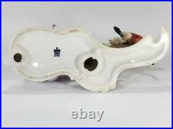 Antique Continental KPM Arnart Seesaw Porcelain Figurine, 7 H X 12.5 W