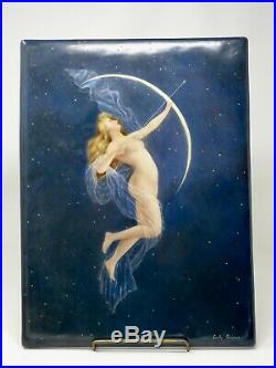 Antique D&c Delinieres & Co. Limoges Nude Porcelain Wall Plaque Signed 1895 Kpm