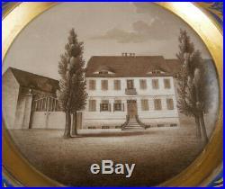 Antique Early 19thC KPM Berlin Porcelain Scenic Scene Plate Porzellan Teller