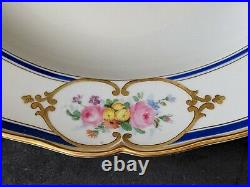 Antique Early KPM Royal Porcelain 14 Round Serving Plate, Germany