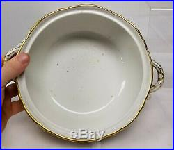 Antique Fine KPM Porcelain Covered Dish Gilt Floral Scepter Mark Tureen