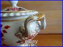 Antique Flight Barr & Barr Worcester Porcelain Imari Floral Decor Sauce Tureen