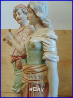 Antique French Old Paris Porcelain Two Lovers Figurine Meissen Dresden Kpm
