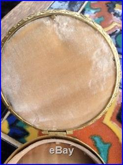 Antique GILT BRONZE BOX Beautiful Lady Painting On Porcelain WAGNER KPM