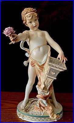 Antique German Berlin KPM Porcelain Figurine Of Amur Very Rare