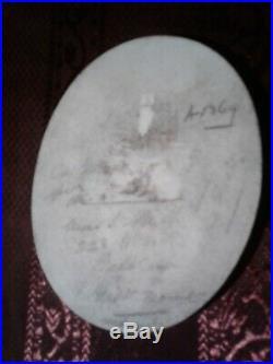 Antique German Hutschenreuther KPM Hand Painted Porcelain Plaque 5 1/8 × 4 inch