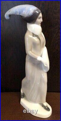 Antique German KPM Berlin Art Deco Porcelain Figurine Of Maiden Ext Rare