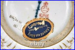 Antique German KPM Berlin Porcelain Ram Goat Head Vase Porzellan Paper Label