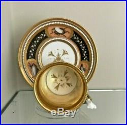 Antique German KPM Berlin porcelain Empire Regency Cabinet cup Empire gold