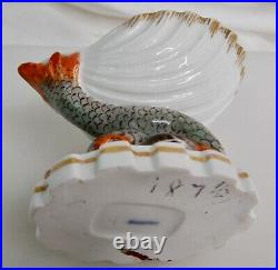 Antique German KPM Porcelain Dolphin Open Salt Cellar 83184