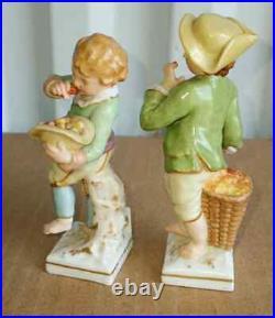 Antique German KPM Porcelain Miniatures, XIX C, 4 H