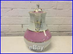 Antique German KPM Porcelain Teapot with Pink & Gold Decorations