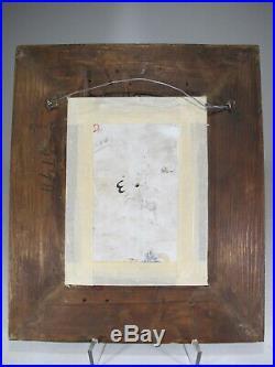 Antique German KPM porcelain plaque, marked and framed # D10293