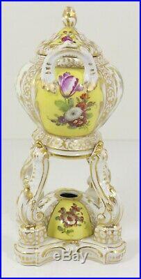 Antique German Porcelain KPM Incense Burner Watteau Scenes