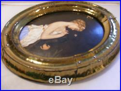 Antique German Porcelain Plaque