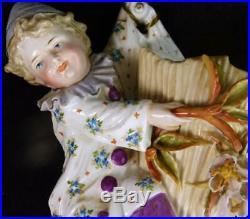 Antique German Porcelain Wall Pocket Figure Kpm Krister Walldenburg