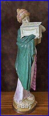 Antique German Royal Berlin KPM Porcelain Figurine Of Goddess Pandora Very Rare
