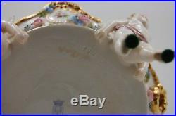 Antique German schierholz dresden porcelain centerpiece vase putti angels