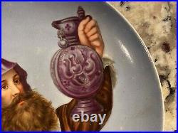 Antique Hand Painted KPM Porcelain Small Dish