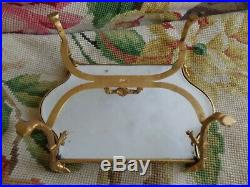 Antique Hand Painted Signed Sevres Cherub Gold Ormolu Porcelain Miniature Table