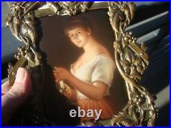 Antique Hutschenreuther Porcelain Plaque KPM