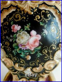 Antique Jacob Petit Paris Porcelain Scent Bottle With Soldier Jewels Raised Gilt