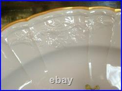 Antique KPM Berlin 12.5 Porcelain Charger Floral & Butterfly Blue Sceptre Mark