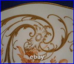 Antique KPM Berlin Art Nouveau Porcelain Orange Floral Plate Porzellan Teller