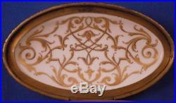 Antique KPM Berlin Art Nouveau Porcelain Weichmalerei Pill Box Porzellan Dose