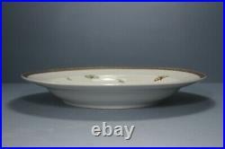 Antique KPM Berlin Large Porcelain Plate. Floral / Butterflies 31.4cm c1840