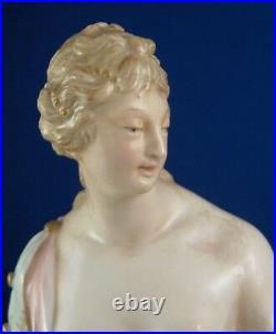 Antique KPM Berlin Porcelain Art Nouveau Weichmalerei Figure Porzellan Figur