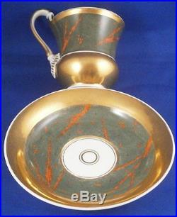 Antique KPM Berlin Porcelain Artsy Design Cup & Saucer Porzellan Tasse German
