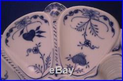 Antique KPM Berlin Porcelain Blue Onion Oyster Plate Porzellan Austernteller