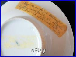 Antique KPM Berlin Porcelain Cabinet Cup and Saucer View of Dresden Circa 1810
