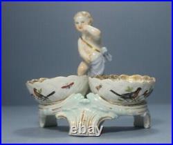 Antique KPM Berlin Porcelain Figural Salt stand with Putti #2