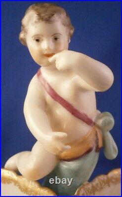 Antique KPM Berlin Porcelain Figural Spice Open Salt Dish Porzellan Gewürzschale