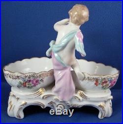 Antique KPM Berlin Porcelain Figural Spice / Salt Dish Porzellan Gewürzschale