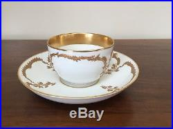 Antique KPM Berlin Porcelain Gold NEUZIERAT Breakfast Cup & Saucer Set