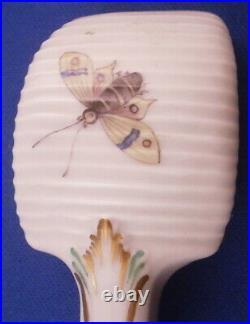 Antique KPM Berlin Porcelain Kurland Butter Spoon Porzellan Butterstecher German