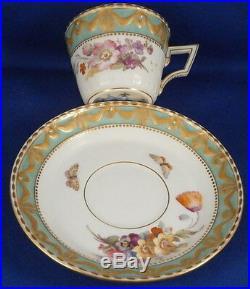 Antique KPM Berlin Porcelain Kurland Royal Kaiser Cup & Saucer Porzellan Tasse