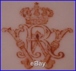 Antique KPM Berlin Porcelain Leaf Dish Kaiser Wilhelm II Royal Porzellan Teller