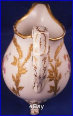 Antique KPM Berlin Porcelain Neuzierat Floral & Gold Creamer Porzellan Kaennchen