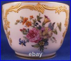Antique KPM Berlin Porcelain Neuzierat Floral & Gold Sugar Dish Porzellan Dose