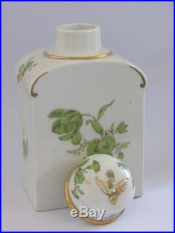 Antique KPM Berlin Porcelain Neuzierat Tea Caddy Jar Porzellan Teedose Dose