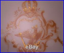 Antique KPM Berlin Porcelain Plate Kaiser Wilhelm II Royalty Porzellan Teller B