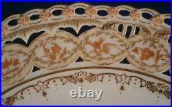 Antique KPM Berlin Porcelain Reticulated Scenic Plate Porzellan Teller Scene