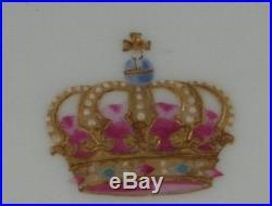 Antique KPM Berlin Porcelain Royal Kaiser Crown Monogram Plate Porzellan Teller