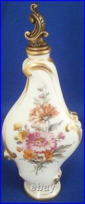 Antique KPM Berlin Porcelain Scenic Perfume Bottle Porzellan Flacon Cherub Scene